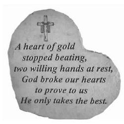 A Heart of Gold Memorial Garden Stone