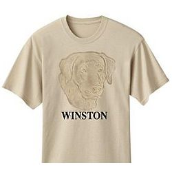 Personalized Embossed Dog Breed T-Shirt