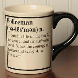 Policeman Definition Coffee Mug