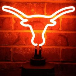 Texas Longhorns Bevo Neon Light
