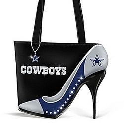64d663e5a39 Dallas Cowboys Kick Up Your Heels Handbag - FindGift.com