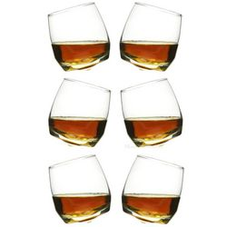 6 Roly Poly Rocking Whiskey Glasses