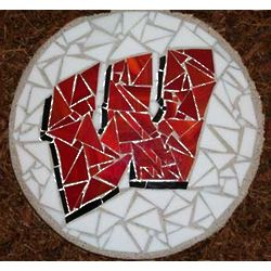 University of Wisconsin Stained Glass Stepping Stone