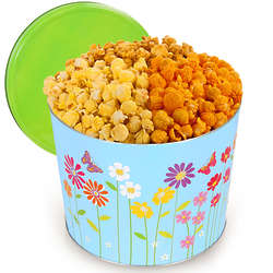 3.5 Gallons of People's Choice Popcorn in Butterflies Tin
