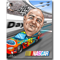 NASCAR Fully Custom Caricature