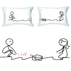 We Are Connected Couple's Pillowcase Set