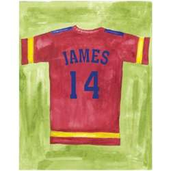 Personalized Football Jersey Canvas - Choose Framed or Unframed
