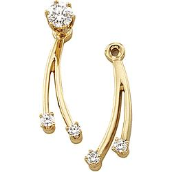14k Designer Diamond Earring Jackets