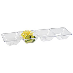 Smooth Four-Compartment Tray