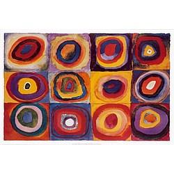Farbstudie Quadrate Canvas Print
