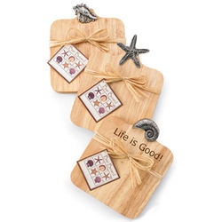 Three Sea Life Wood Bar Cutting Boards