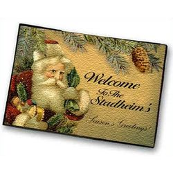 Personalized Santa Welcome Mat