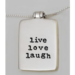 Live Love Laugh Locket Necklace