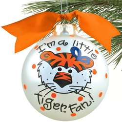 Auburn Tigers Silver Little Girl Fan Christmas Ornament