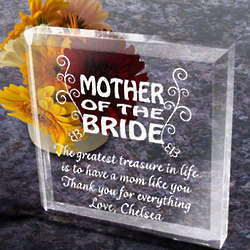 Personalized To My Parents on My Wedding Day Paperweight