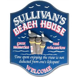 Beach House Custom Sign