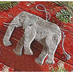 Recycled Wool Elephant Ornament