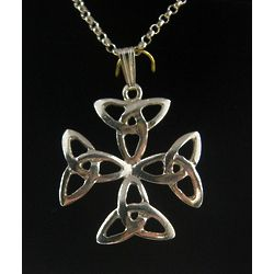 Trinity Cross Pendant with 18 Inch Chain