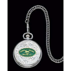 John Deere Montana Silversmiths Large Pocket Watch