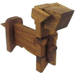 Dog Kumiki 3D Wooden Puzzle