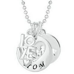 Mom's Sterling Silver Family Multi-Charm Necklace