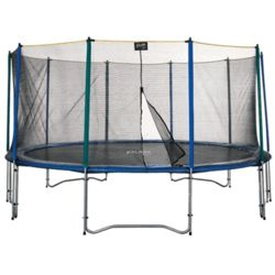 Large Outdoor Trampoline and Enclosure