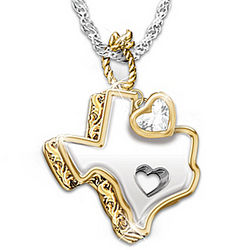 Texas Girl at Heart White Topaz Pendant Necklace