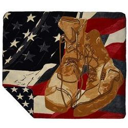 Veterans Boots Throw Blanket