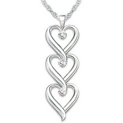 Daughter I Love You Diamond Pendant