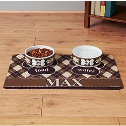 Personalized Argyle Design Pet Placemat