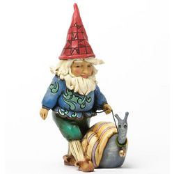 Gnome with Snail Figurine