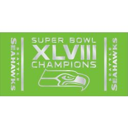 Seattle Seahawks Super Bowl XLVIII Champions Beach Towel