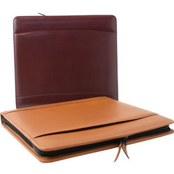 Leather Padfolio with Zipper