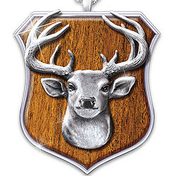 Men's 10-Point Buck Stainless Steel Trophy Pendant