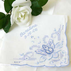 Something Blue Personalized Handkerchief