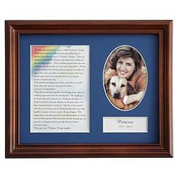 Rainbow Bridge Poem Framed Pet Memorial