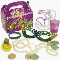 Mardi Gras Filled Gift Box