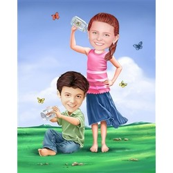 Fluttering Fields Caricature from Photos