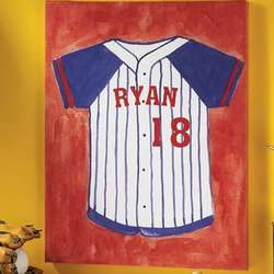 Personalized Unframed Baseball Jersey Canvas Print