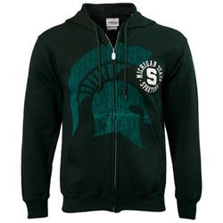 Michigan State Spartans Green Zippity Zip Hoody Sweatshirt