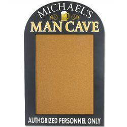 Man Cave Personalized Bulletin Board