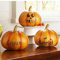 Personalized Small Pumpkin