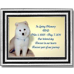 Pet Memorial Plaque in Color