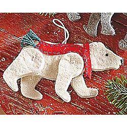 Recycled Wool Polar Bear Ornament