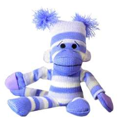 Striped Slingshot Flying Sock Monkey