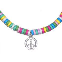 Sweeties Candy Necklace with Peace Charm