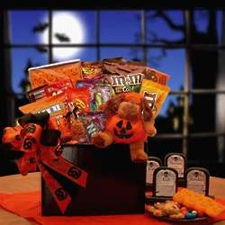 Halloween Gift Basket with Plush Puppy