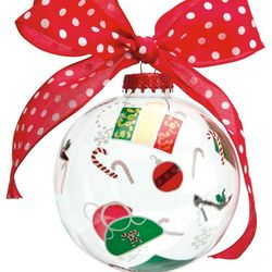 Shop-A-Holiday Glass Ornament Ball