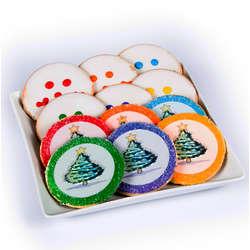 12 Eat 'n' Park Christmas Tree and Smiley Sugar Cookies