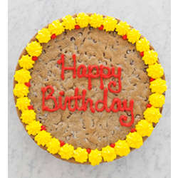 Chocolate Chip Birthday Cookie